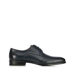 Мужские кожаные туфли, темно-синий, 91-M-907-7-44, Фотография 1
