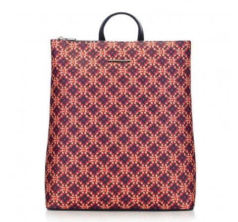 Женский городской рюкзак, темно-синий-оранжевый, 91-4Y-716-X1, Фотография 1