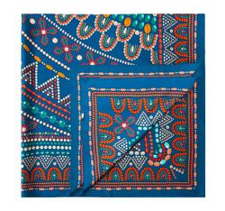 Платок женский, темно-синий, 84-7D-S31-X16, Фотография 1