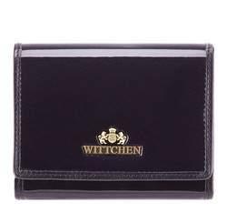 Женский кошелек из лакированной кожи среднего размера, темно-синий, 25-1-070-N, Фотография 1