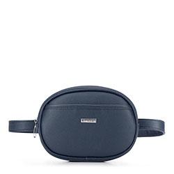 Овальная поясная сумка, темно-синий, 92-4Y-575-N, Фотография 1