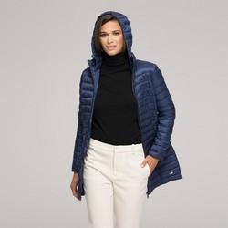 Стеганая женская куртка с капюшоном, темно-синий, 91-9N-100-7-S, Фотография 1
