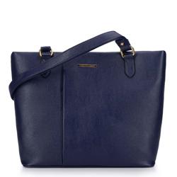 Сумка-шоппер со складкой, темно-синий, 93-4Y-207-N, Фотография 1