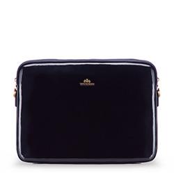 Женский чехол для ноутбука 15,6 дюйма, лакированная кожа | WITTCHEN, темно-синий, 25-2-517-N, Фотография 1