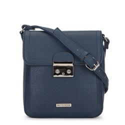 Женская маленькая сумка через плечо с замком, темно-синий, 91-4Y-706-7, Фотография 1