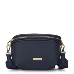 Женская полукруглая сумка на пояс, темно-синий, 93-4Y-911-N, Фотография 1