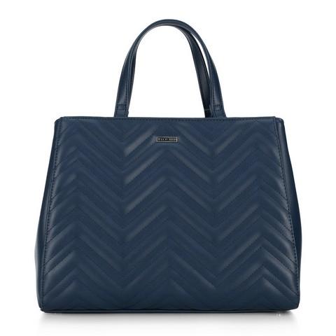 Женская стеганая сумка-шоппер, темно-синий, 92-4Y-600-7, Фотография 1