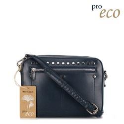 Женская сумка через плечо из экокожи, темно-синий, 91-4Y-252-7, Фотография 1