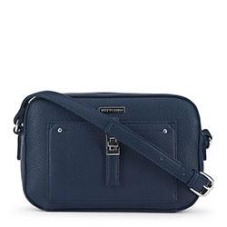Женская сумка через плечо на тонком ремешке, темно-синий, 91-4Y-401-7, Фотография 1