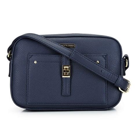 Женская сумка через плечо с передним карманом, темно-синий, 29-4Y-001-9, Фотография 1