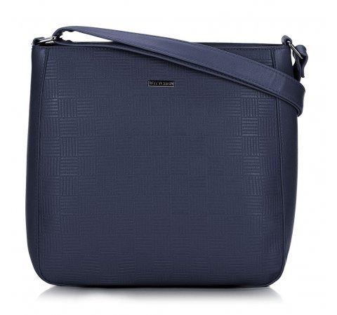 Женская сумка через плечо с тиснением, темно-синий, 91-4Y-625-3, Фотография 1
