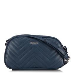 Женская сумка через плечо с зигзагообразной строчкой, темно-синий, 92-4Y-601-7, Фотография 1