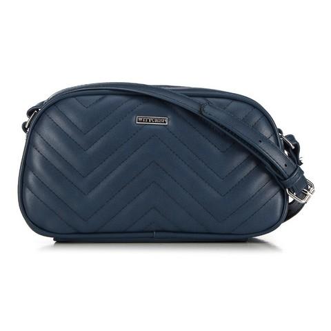 Женская сумка через плечо с зигзагообразной строчкой, темно-синий, 92-4Y-601-8, Фотография 1