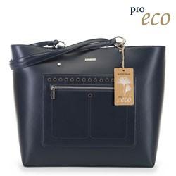 Женская сумка-шоппер из экокожи, темно-синий, 91-4Y-250-7, Фотография 1