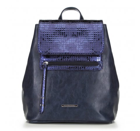 Женский рюкзак, темно-синий, 90-4Y-403-P, Фотография 1