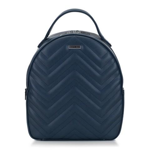 Женский рюкзак с зигзагообразной строчкой, темно-синий, 92-4Y-602-7, Фотография 1