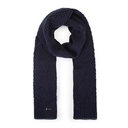 Женский шарф в ромбы, темно-синий, 93-7F-002-7, Фотография 1
