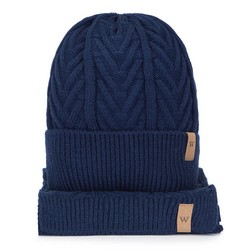 Мужской зимний комплект с косами, темно-синий, 93-SF-004-7, Фотография 1