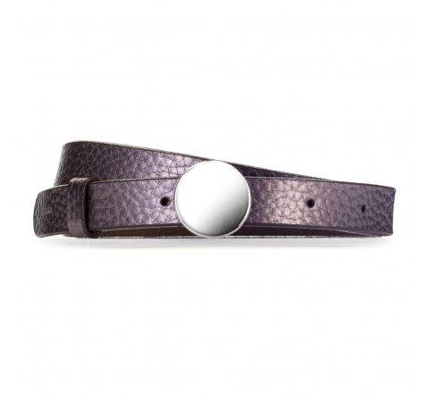 Ремень женский, теплый фиолетовый, 87-8D-311-9-L, Фотография 1