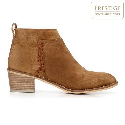 Cowboy cipő rövid díszcsíkkal, teve, 92-D-152-5-36, Fénykép 1