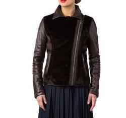 Dámská bunda, tmavě hnědá, 81-09-905-4-S, Obrázek 1