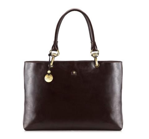 Dámská kabelka, tmavě hnědá, 39-4-523-3, Obrázek 1