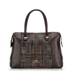 Dámská kabelka, tmavě hnědá, 89-4E-357-4, Obrázek 1