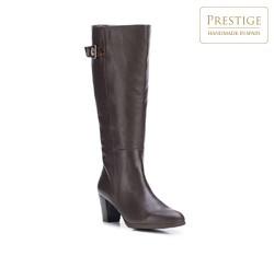 Dámské boty, tmavě hnědá, 87-D-313-4-39, Obrázek 1