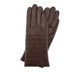 Dámské rukavice, tmavě hnědá, 39-6-520-B-M, Obrázek 1