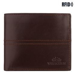 Kožená pánská peněženka, tmavě hnědá, 14-1-119-L4, Obrázek 1