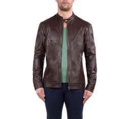 Pánská bunda, tmavě hnědá, 80-09-952-4-L, Obrázek 1