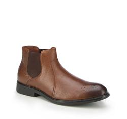 Pánské boty, tmavě hnědá, 87-M-943-5-44, Obrázek 1