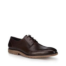 Pánské boty, tmavě hnědá, 88-M-808-4-42, Obrázek 1
