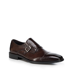 Pánské boty, tmavě hnědá, 88-M-816-4-44, Obrázek 1