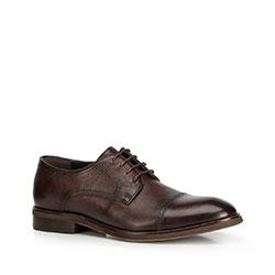 Pánské boty, tmavě hnědá, 90-M-514-4-44, Obrázek 1
