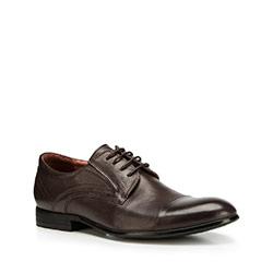 Pánské boty, tmavě hnědá, 90-M-908-4-43, Obrázek 1