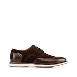 Panské boty, tmavě hnědá, 92-M-503-4-44, Obrázek 1