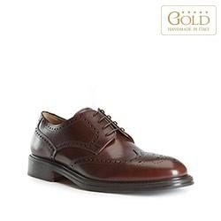 Pánské boty, tmavě hnědá, BM-B-501-4-40, Obrázek 1