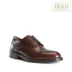 Pánské boty, tmavě hnědá, BM-B-501-4-45, Obrázek 1