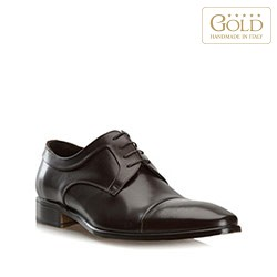 Pánské boty, tmavě hnědá, BM-B-573-4-42, Obrázek 1