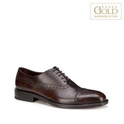 Pánské boty, tmavě hnědá, BM-B-586-4-44, Obrázek 1