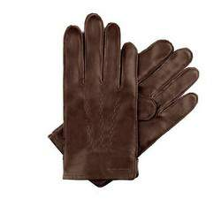 Pánské rukavice, tmavě hnědá, 39-6-328-B-M, Obrázek 1