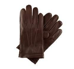 Pánské rukavice, tmavě hnědá, 39-6-343-B-L, Obrázek 1
