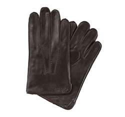 Pánské rukavice, tmavě hnědá, 39-6-348-B-L, Obrázek 1