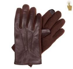 Pánské rukavice, tmavě hnědá, 39-6-353-B-L, Obrázek 1