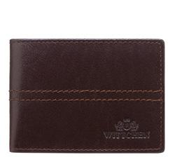 Pouzdro na kreditní karty, tmavě hnědá, 14-2-118-4, Obrázek 1