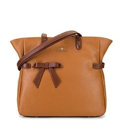 Dámská kabelka, tmavě hnědá - světle hnědá, 92-4E-309-5, Obrázek 1