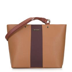 Dámská kabelka, tmavě hnědá - světle hnědá, 92-4Y-208-5, Obrázek 1