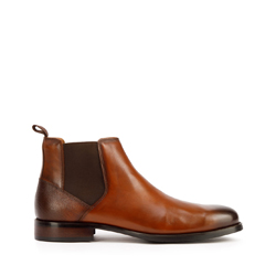 Panské boty, tmavě hnědá - světle hnědá, 93-M-520-5-43, Obrázek 1