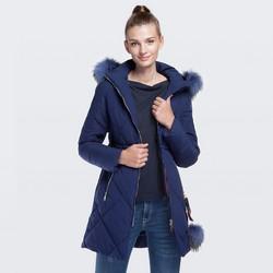 Dámská bunda, tmavě modrá, 87-9N-501-7-2XL, Obrázek 1